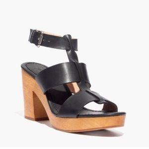 f47099b3eef Madewell Black Irving Heeled Sandals